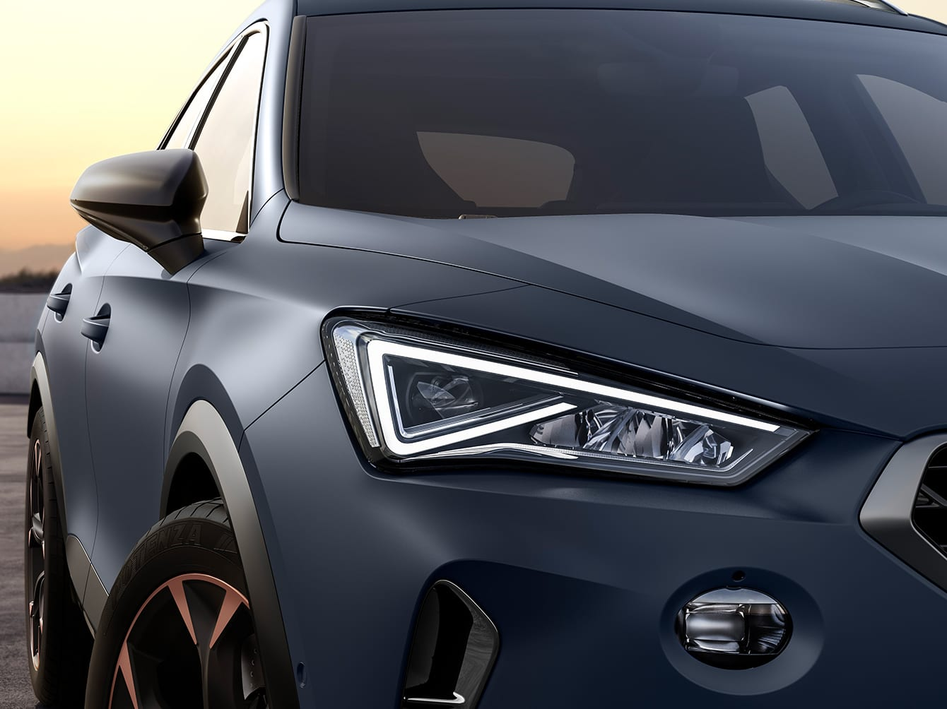 new cupra formentor compact suv with full led lights